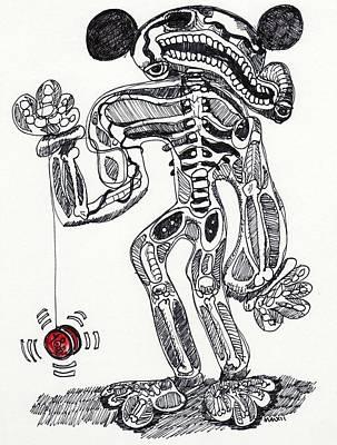 Contemporary Abstract Drawing - Human Nature by Robert Wolverton Jr