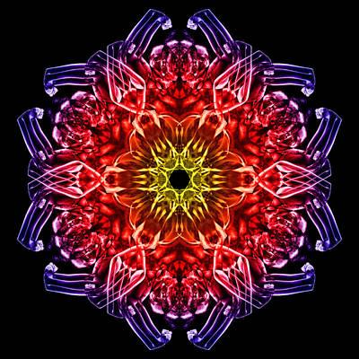 Vivid Colour Digital Art - Humandala 2 by David Kleinsasser