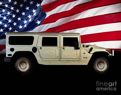 Photograph - Hummer Patriot by Peter Piatt