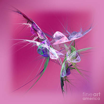 Abstract Hummingbird Digital Art - Hummingbird Fantasy Abstract by Andee Design