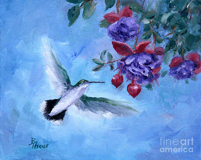 Painting - Hummingbird In Flight by Brenda Thour