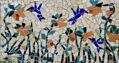 Photograph - Hummingbird Mosaic by Lou Ann Bagnall