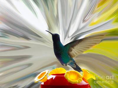 Hummingbird Series Vii Art Print by Al Bourassa