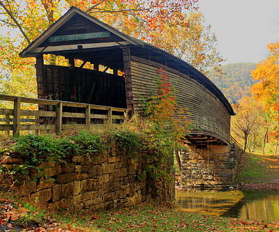 Humpback Covered Bridge Art Print by Harold Rau