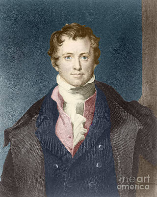 Gas Lamp Photograph - Humphry Davy, English Chemist by Science Source