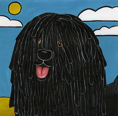 Painting - Hungarian Puli by Leanne Wilkes