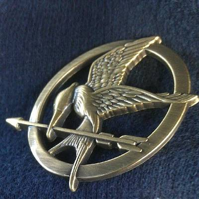 Actors Wall Art - Photograph - Hunger Games Mocking Bird Pin by Kegan Piper