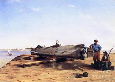 Hunley Submarine, 1863 Art Print