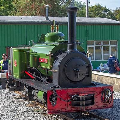 Steam Wall Art - Photograph - Hunslet Quarry Loco jack Lane At by Dave Lee