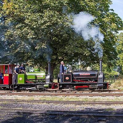 Steam Wall Art - Photograph - Hunslet Quarry Locos Depart From Pages by Dave Lee