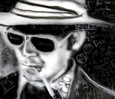 Hunter S Thompson American Dream  Art Print by Jon Baldwin  Art