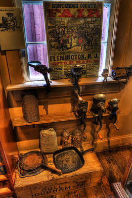 Hunterdon County Fair - General Store - Vintage - Nostalgia - Meat Grinders Art Print by Lee Dos Santos