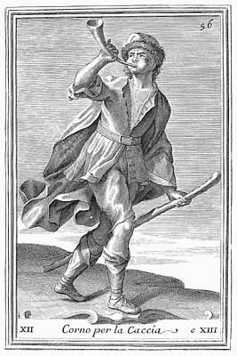 Hunting Horn, 1723 Art Print by Granger