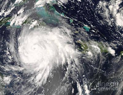 Photograph - Hurricane Gustav Over Jamaica by Stocktrek Images