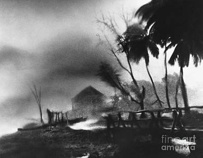 Photograph - Hurricane In The Caribbean by Fritz Henle and Photo Researchers