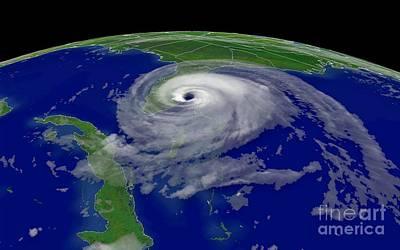 Noaa Photograph - Hurricane Jeanne Hits Florida by Padre Art