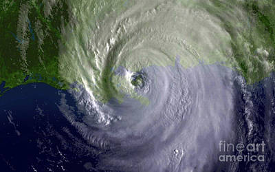 Photograph - Hurricane Katrina Regional Imagery by Stocktrek Images