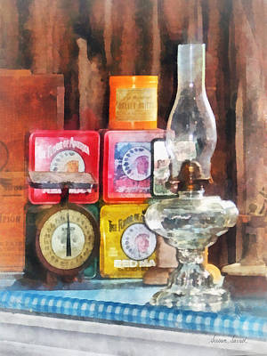 Cans Photograph - Hurricane Lamp And Scale by Susan Savad