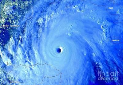 Noaa Photograph - Hurricane Mitch 195 Mph Wind by Padre Art