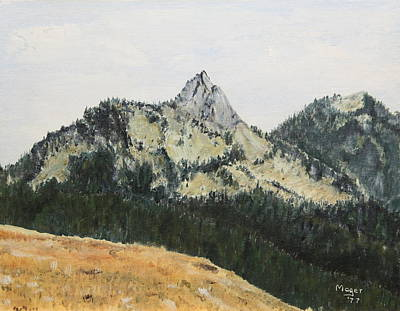 Painting - Hurricane Ridge by Alan Mager