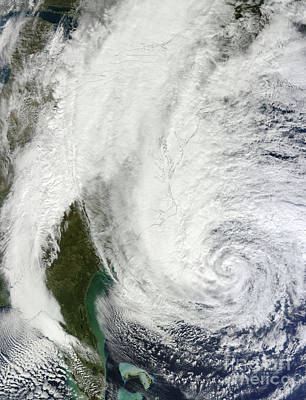 Hurricane Sandy Off The Southeastern Art Print by Stocktrek Images