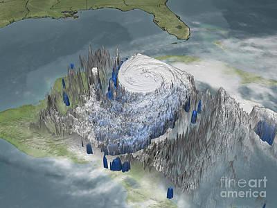 Hurricane Wilma Art Print