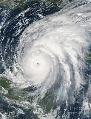 Hurricane Wilma Over Mexico Art Print