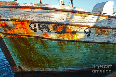 Photograph - Husavik Iceland Rusty Boat Hull by Gregory Dyer