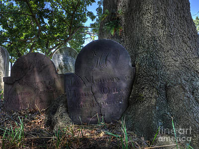 Photograph - Husband And Wife Together Forever - Belleville Dutch Reformed Church - Husband And Wife Grave by Lee Dos Santos