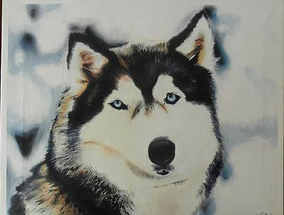 Painting - Husky by Luis Carlos A