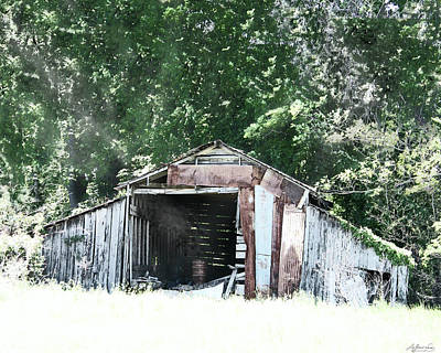 Digital Art - Hwy 1 Rosedale Ms Barn by Lizi Beard-Ward