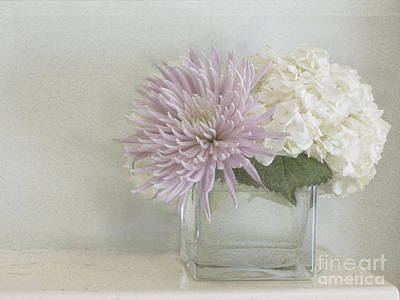Hydrangea And Mum Art Print