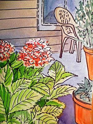 Hydrangea Sketchbook Project Down My Street Art Print by Irina Sztukowski