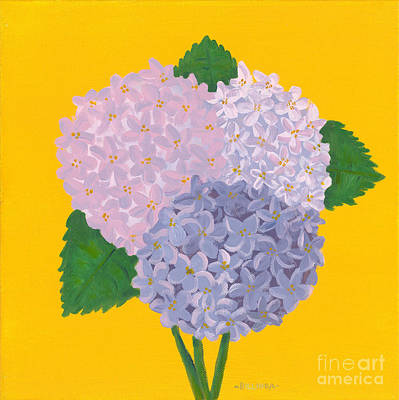 Painting - Hydrangeas by Billinda Brandli DeVillez