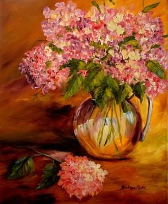 Hydrangeas From The Garden Art Print by Barbara Pirkle
