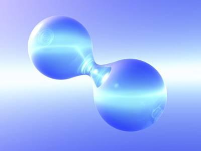Hydrogen Molecule Art Print by Pasieka