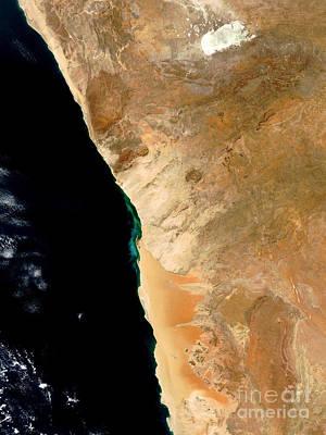 Hydrogen Sulfide Eruption Off Namibia Art Print by Nasa
