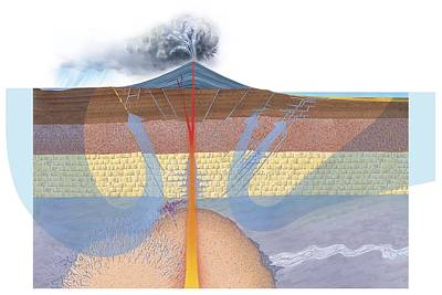 Hydrothermal Ore Formation, Artwork Art Print