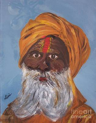 Art Print featuring the painting I Am A Sikh by Lucia Grilletto