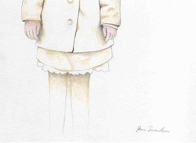 Fading Drawing - I Am Invisible by Jane Samuelson
