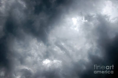 I Am No Storm Chaser Cloud Art Print by Andee Design
