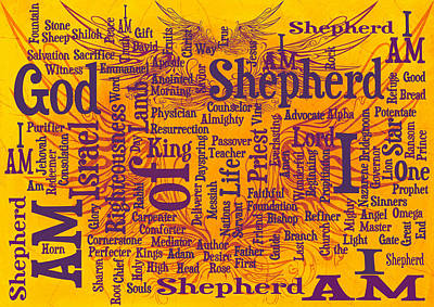 I Am Shepherd 2 Art Print