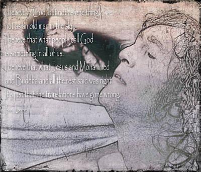 I Believe _ John Lennon Art Print by Yvon van der Wijk