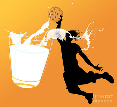 Digita Art Digital Art - I Can Dunk by Laura Brightwood