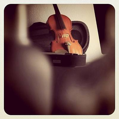 Violin Wall Art - Photograph - I Can Hear The Sound Violins by Aileen Editha