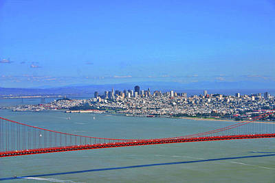 Art Print featuring the photograph I Don't See No Stinkin' Fog Golden Gate San Francisco California by Duncan Pearson
