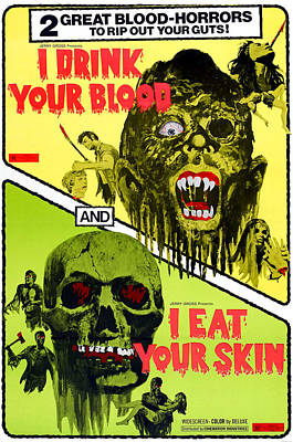 I Drink Your Blood, And I Eat Your Art Print by Everett