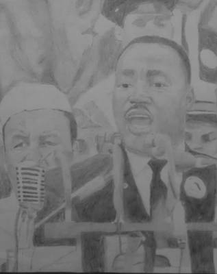 Free Speech Drawing - I Have A Dream by Milton  Gore