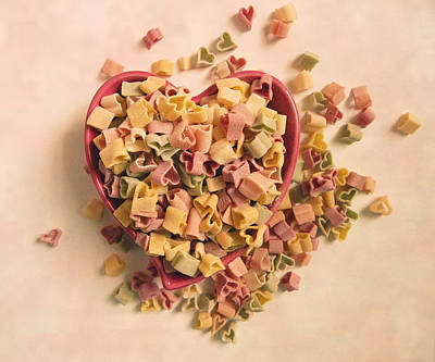 Art Print featuring the photograph I Heart Pasta by Robin Dickinson