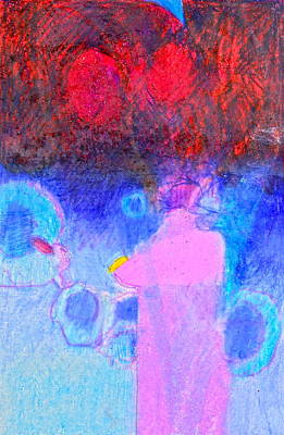 Drawing - I Know You Copenhagen Blue by Cliff Spohn